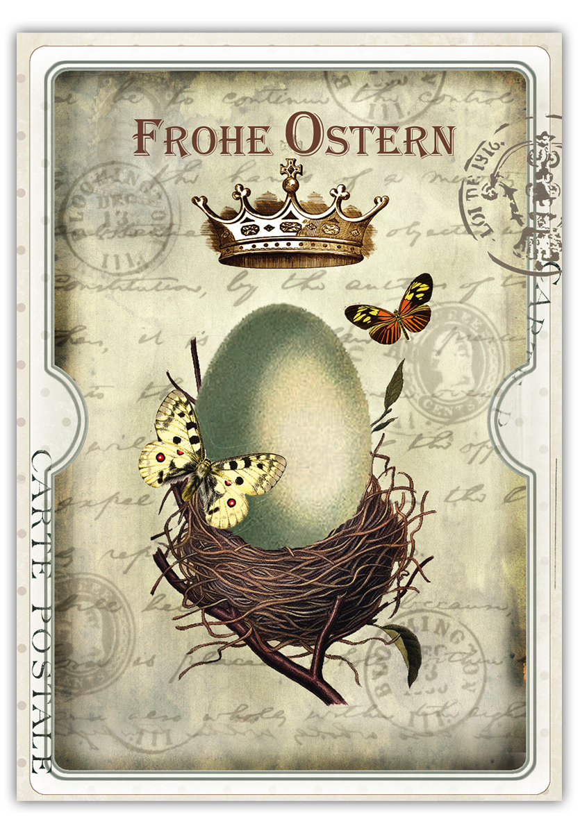 Vintage osterkarte postkarte 14 8 x 10 5 cm - Vintage bilder kostenlos ...
